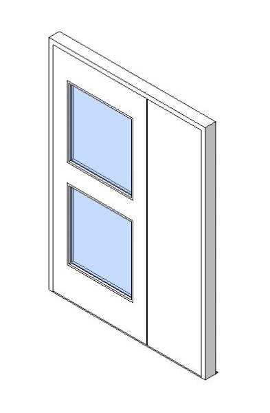 External Unequal Door, Vision Panel Style VP05