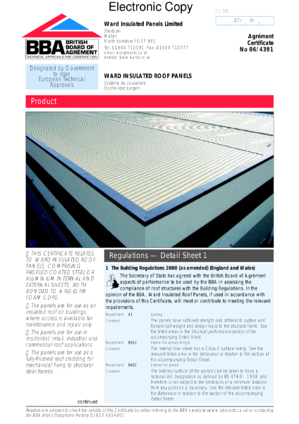 06/4391 Insulated roof panels see Ward