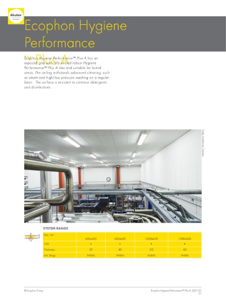 Ecophon Hygiene Performance Plus A