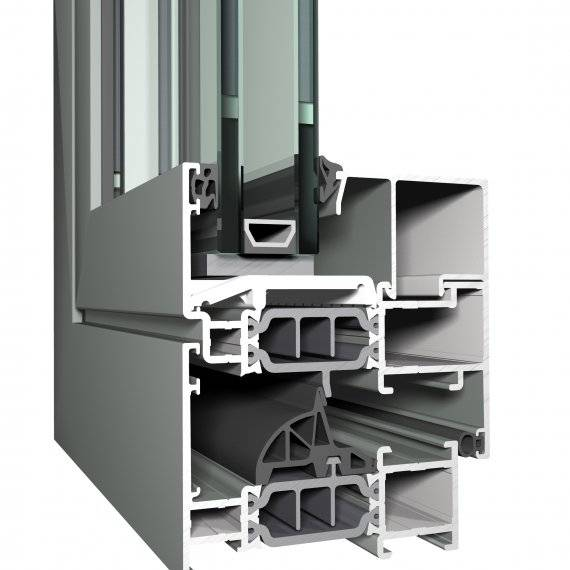 Aluminium Window CS 77 Concept System