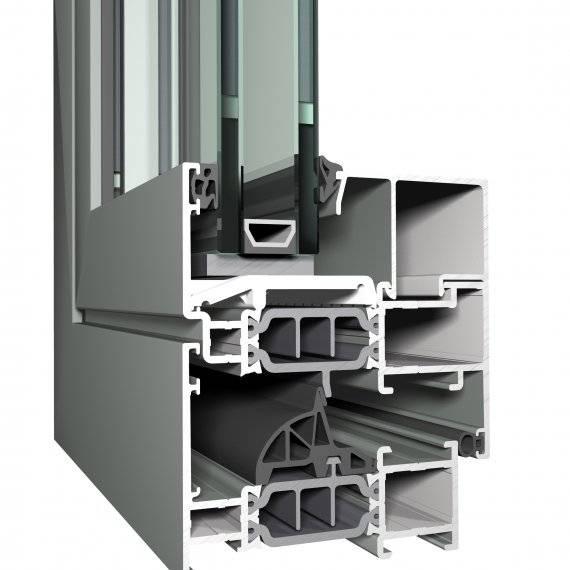 Aluminium Window CS 77 Concept System