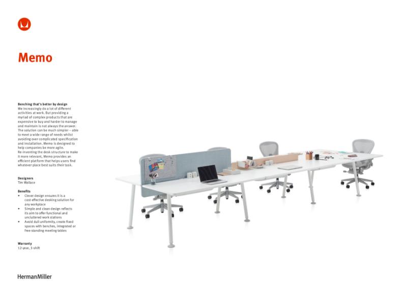 Memo - Product Sheet
