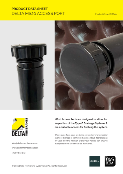 Delta MS 20 Access Port Product Data Sheet
