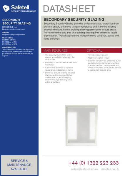 Secondary Security Glazing