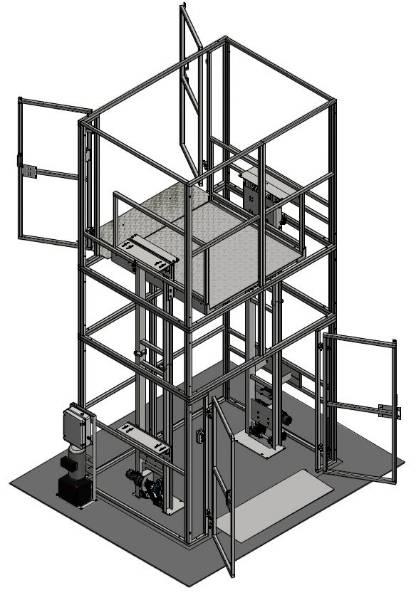 Mezz Heavy Duty 1000 kg Maximum Working Load Goods Lift