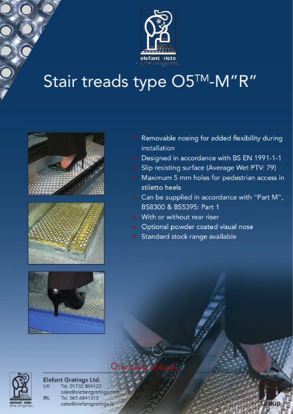 "Stair Treads Type O5-M-""R"""