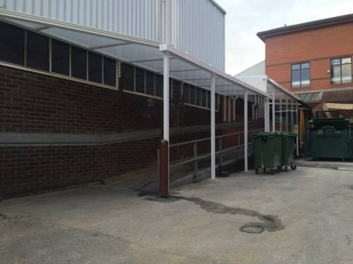Solihull Hospital - Wall Mounted Canopy