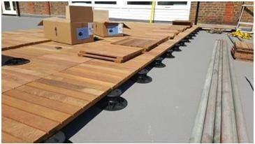 Decking Supports - Snowfields Primary School, South London
