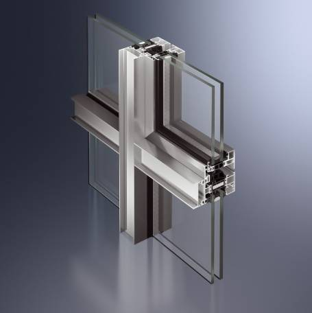 Highly thermally insulated aluminium façade window system - AWS70WF.HI