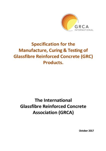 GRC/GFRC Facades – Specification for GRC (Glassfibre Reinforced Concrete)