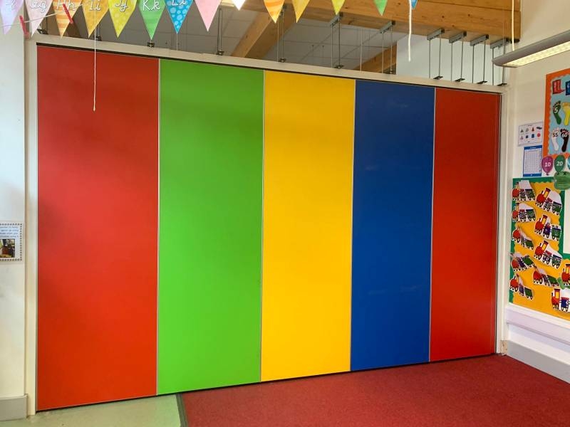 A vibrant partition for a vibrant school