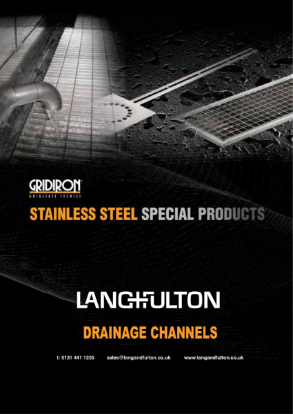 Drainage Channels in Stainless steel