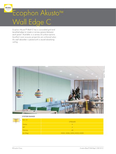 Ecophon Akusto Wall Edge C
