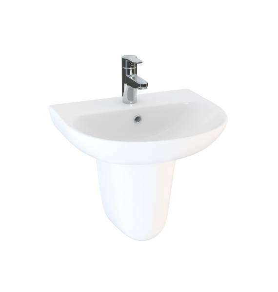 Designer Series 5 55 cm 1TH basin and semi pedestal