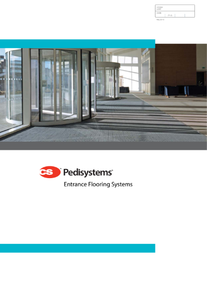 CS Pedisystems Entrance Flooring Systems