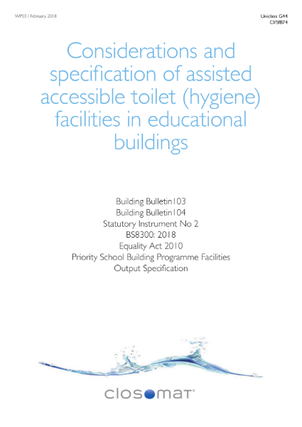 guidance on accessible toilet provision in educational buildings