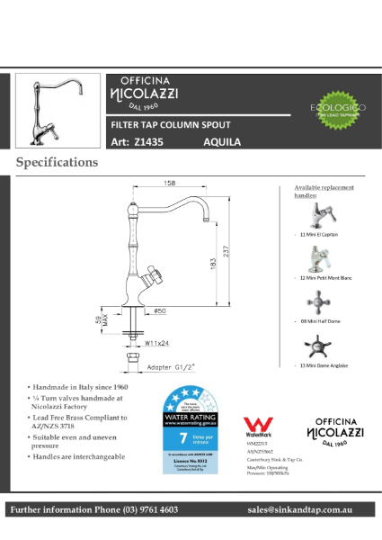 Z1435 Aquila technical specification