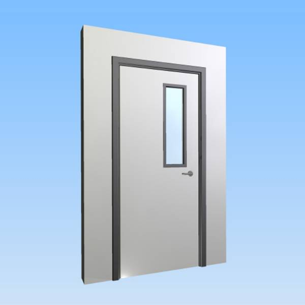 CS Acrovyn® Impact Resistant Doorset - Single with type VP3 Vision Panel