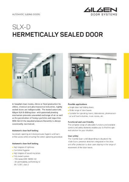 Gilgen SLX-D Hermetically Sealed Door