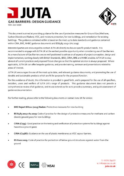 JUTA UK - Design Guidance - Gas Barriers