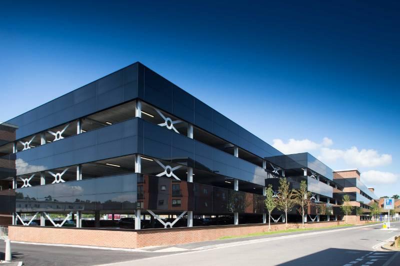 Car Park Barriers and Cladding- Banbury Multi-storey Car Park
