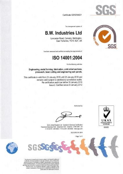 ISO 14001 Environmental Certificate