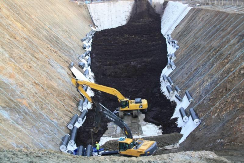 Basel Drainage - Slope Retention, Pozidrain and Erosaweb, Shetland Gas Plant