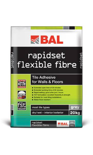 Rapidset Flexible Fibre - Tile adhesive