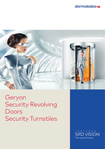 Geryon security revolving doors and security turnstiles