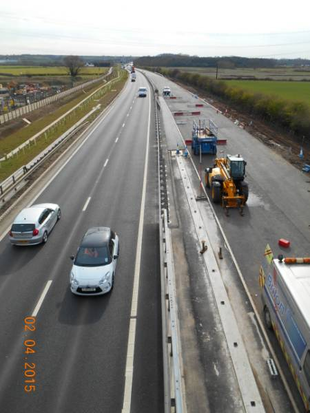 ACO combined kerb drainage system installed throughout widening of A453