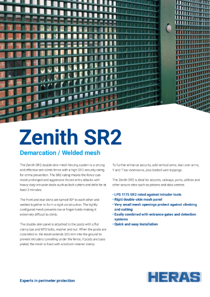Welded Mesh SR2 Fence