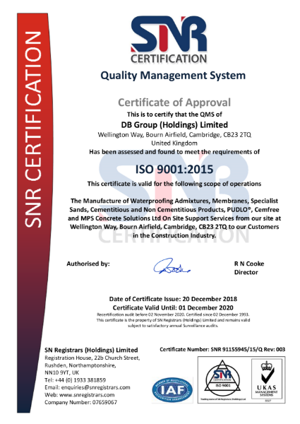 ISO 9001 Certificate 2019