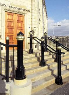 ASF 128 Bollard  / Step Unit Handrail