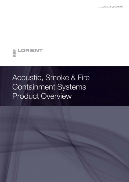 Acoustic, Smoke & Fire Containment Systems Product Overview