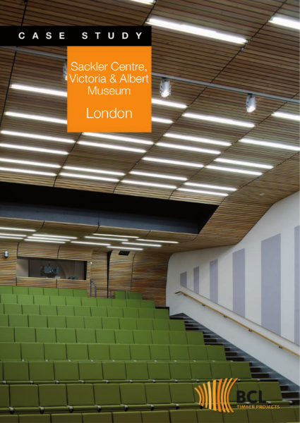V&A Acoustic Wood Ceiling System
