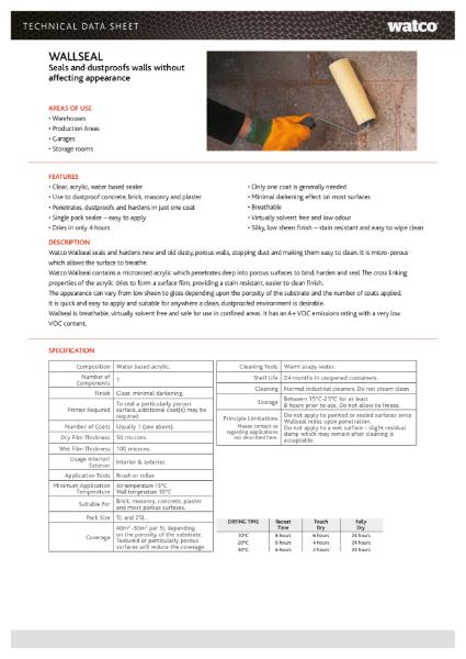 Data Sheet: Wallseal