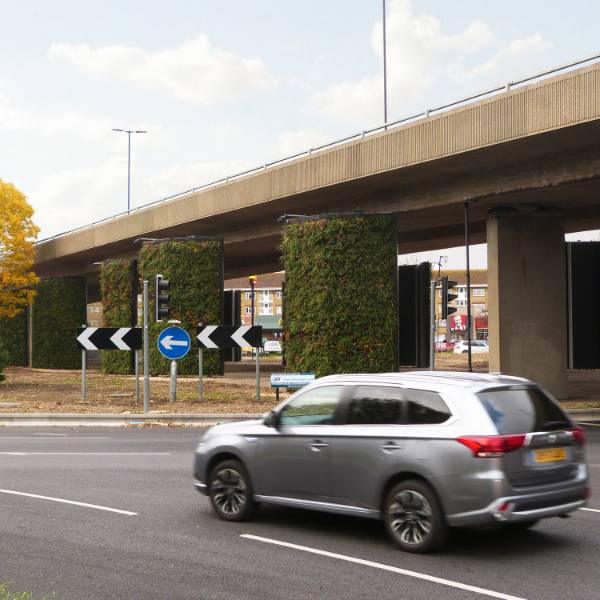 Biotecture Highway Living Wall, southampton