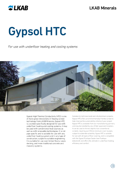 Gypsol HTC Thermally Efficient Screed