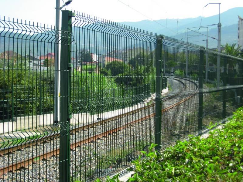 Nylofor 3D + Nylofor-Twilfix - Metal mesh fence panel