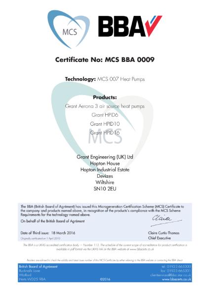 Technology: MCS 007 Heat Pumps
