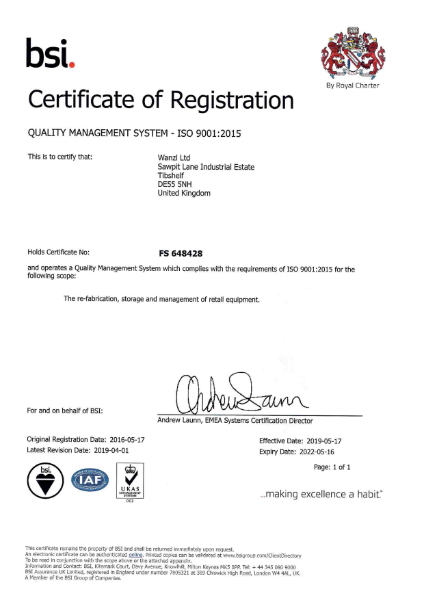 Wanzl - ISO 9001 Certificate