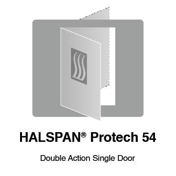 HALSPAN® ProTech 54 mm Interior Grade Door Blanks - Double Acting Single Doors