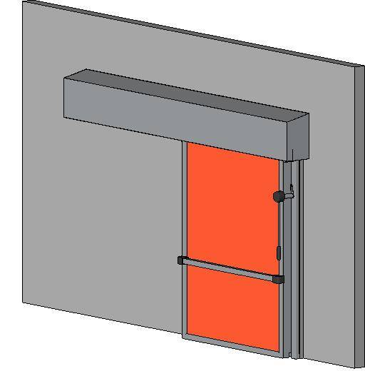 Hermetically Sealing Cold Room Sliding Door - 60 Min Fire Rating