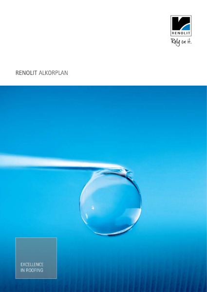 General ALKORPLAN waterproofing membrane single ply Brochure