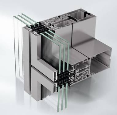 Aluminium Unitized façade - Curtain walling - AF UDC80 CV