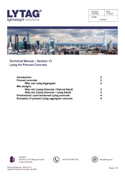 Lytag - Precast Concrete