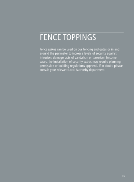 Fence Toppings