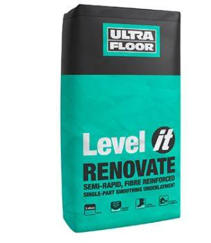 Level IT Renovate: Semi Rapid, Fibre Reinforced, Smoothing Underlayment