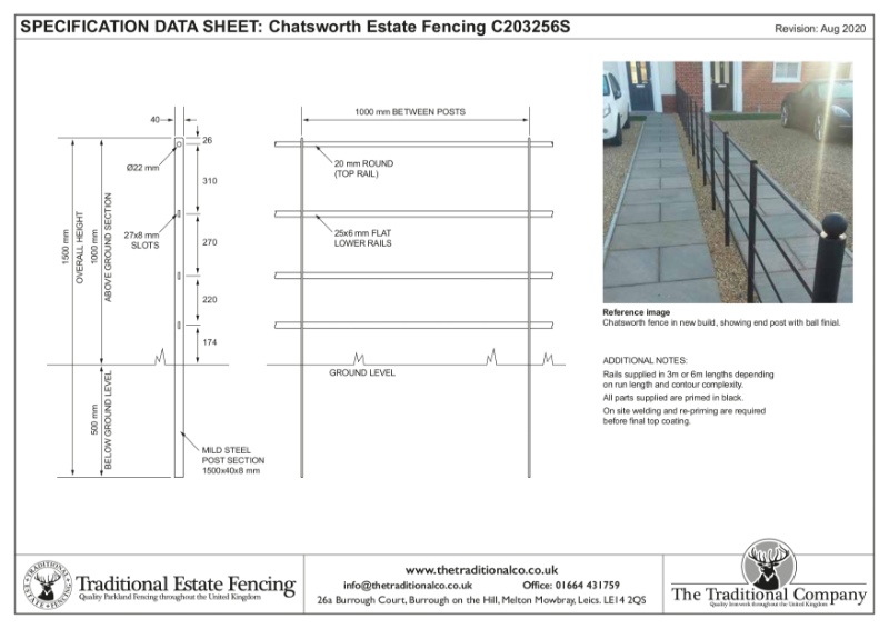 Chatsworth Estate Fencing