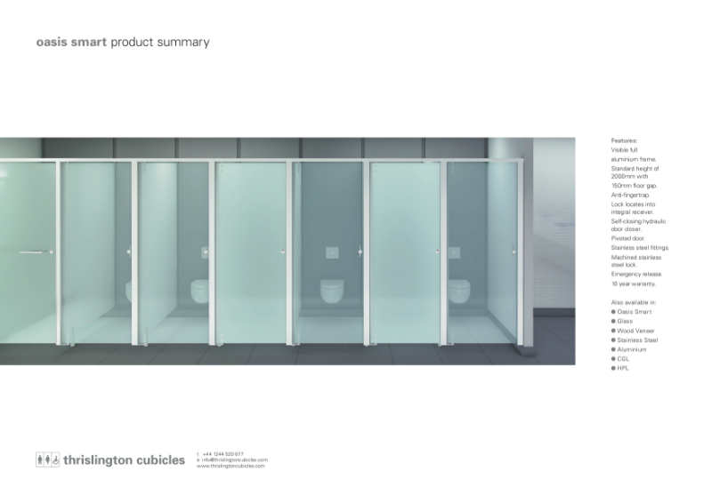 Thrislington Product Summary - Oasis Cubicles